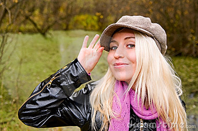 Young woman in kepi
