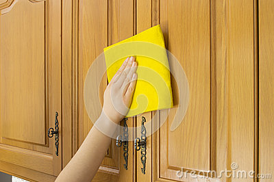 Cleaning cupboards