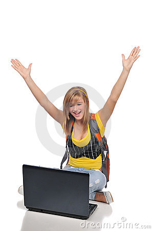 Young woman with laptop