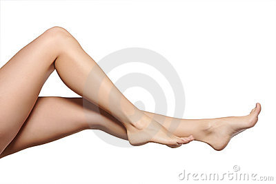 Young woman legs
