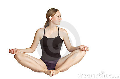 Young woman making yoga- exercises