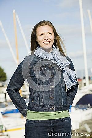 Young Woman at Marina