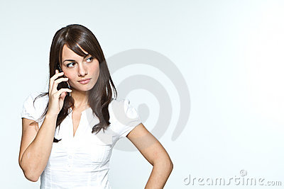 Young woman with mobilephone