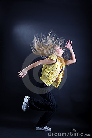 Young woman modern dancer