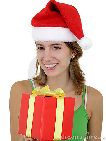 Young Woman Offering Present