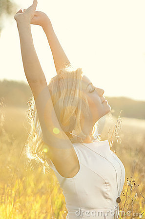 Free Young Woman On Summer Field Portrait Royalty Free Stock Photo - 16194575