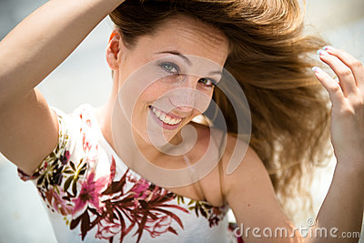 Young woman outdoor portrait