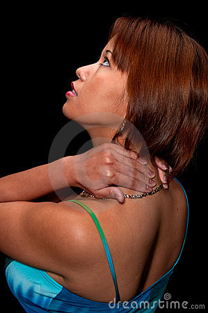Young woman in pain
