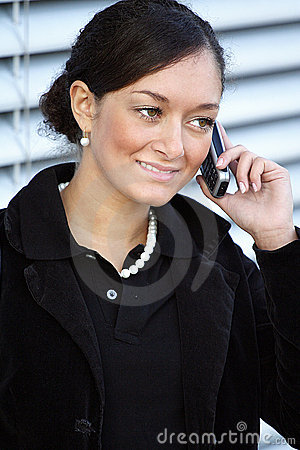 Young woman phoning