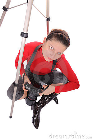 Young woman - photographer