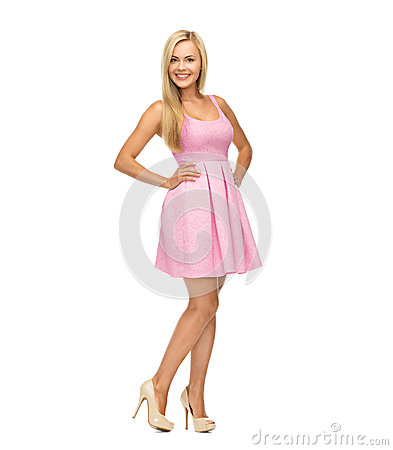 Pink Dress And High Heels Royalty Free Stock Images - Image: 4887469