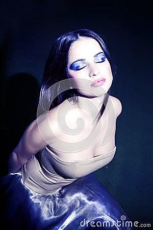 Young Woman portrait.Vintage Make-up