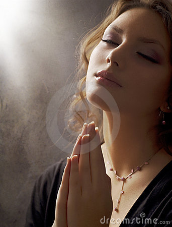 Free Young Woman Praying Close-up Royalty Free Stock Photography - 17901747