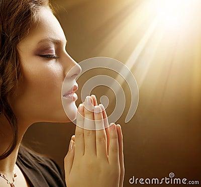 Free Young Woman Praying Close-up Stock Photos - 18867273