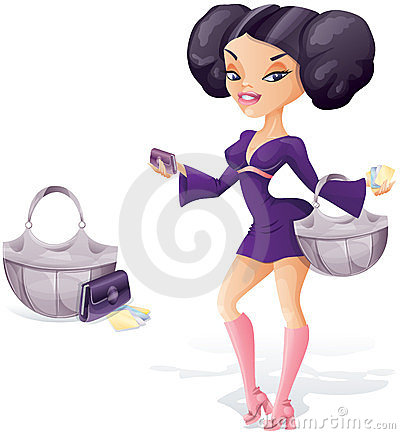 young woman ready for shopping