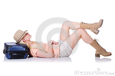 Young woman ready for summer vacation