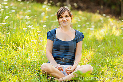 Young woman relaxing outdoor