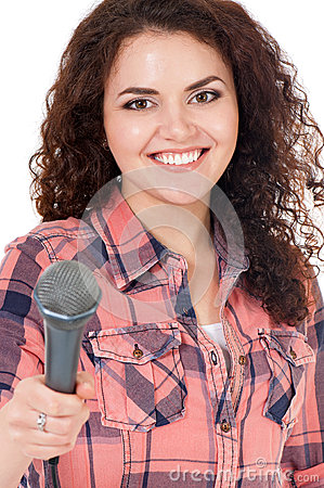 Young woman reporter
