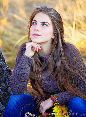 Young woman resting outdoor