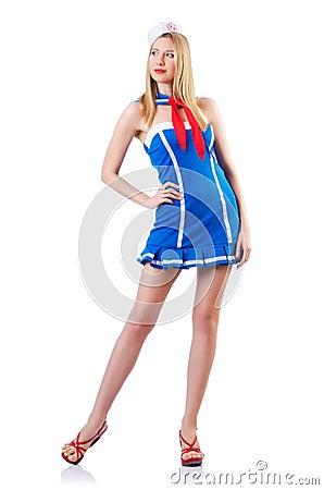 Young woman sailor