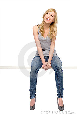 Young woman sitting