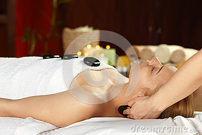 Young woman on spa treatment