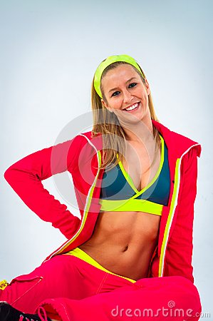 Young woman in sport outfit