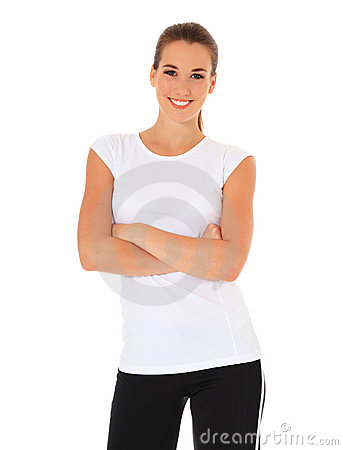 Young woman in sports wear