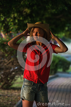 Free Young Woman Standing And Looking Aside, Alanya, Turkey Stock Images - 85600234