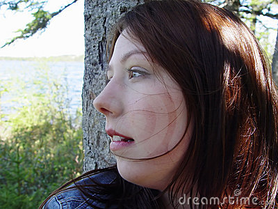 Young Woman staring