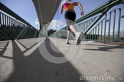 Young Woman starting run