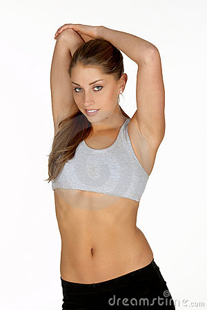Young Woman Stretching Tricep