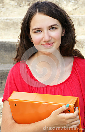 Young woman student back to school