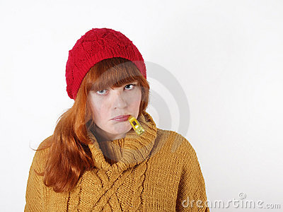 Young Woman Suffering From A Cold Royalty Free Stock Image - Image: 18738196