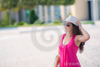 Young woman in the summer
