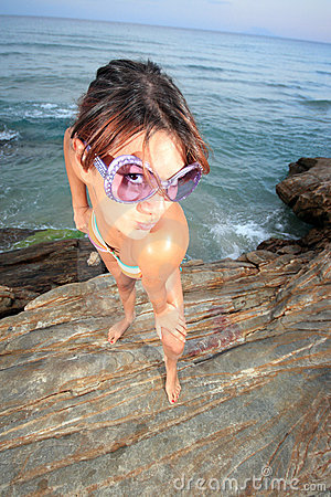 Young woman in sun glasses