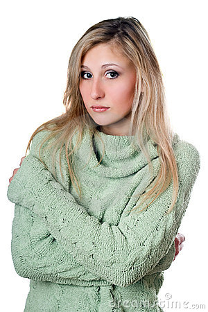 Young woman in sweater
