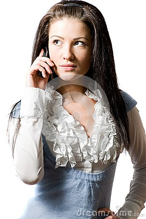 Young woman talking on the cell-phone