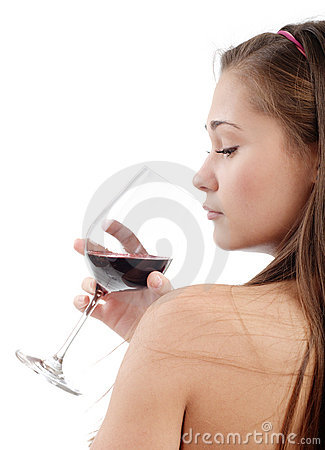 Young woman taste wine