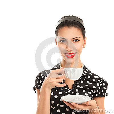 Young woman with tea