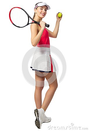 Free Young Woman Tennis Player Stock Image - 106483651