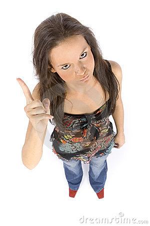 Free Young Woman Threatens By Finger Royalty Free Stock Photo - 1324715