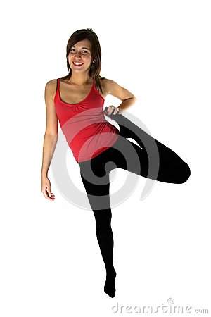 Young woman training fitness