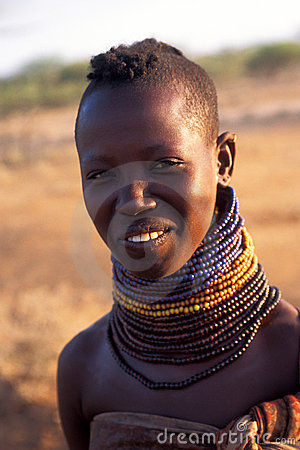 Young woman Turkana (Kenya) Editorial Stock Photo