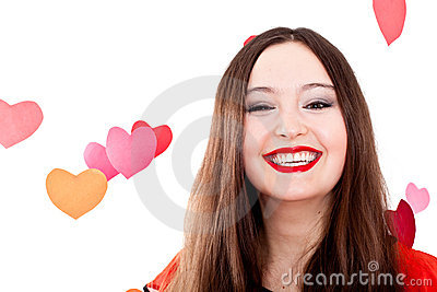 Young woman on Valentine s day
