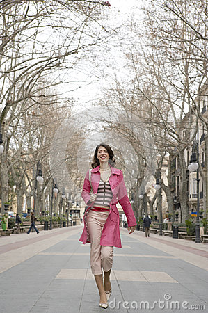 Free Young Woman Walking City Stock Photography - 24875942