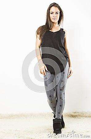Young woman walking towards you