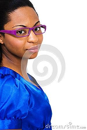 Young Woman Wearing Eyeglasses