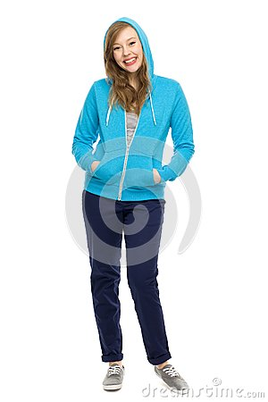 Free Young Woman Wearing Hooded Top Royalty Free Stock Photos - 24822058