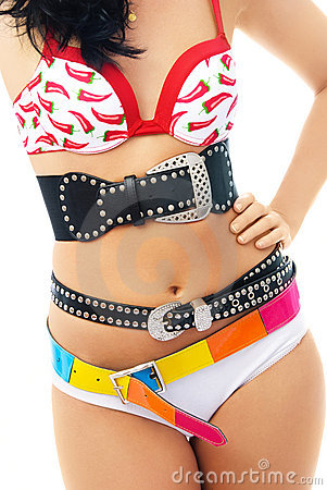 Free Young Woman Wearing Underwear And Three Belts Royalty Free Stock Photo - 7727585